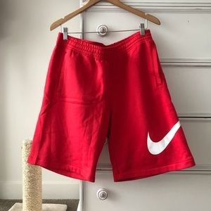 NEW Men's Red Nike Cotton Shorts